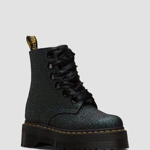 Dr. Martens Molly Glitter Black/Green US 9 UK 7